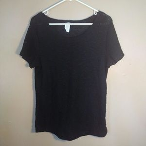 One Clothing Large Black Knit Top